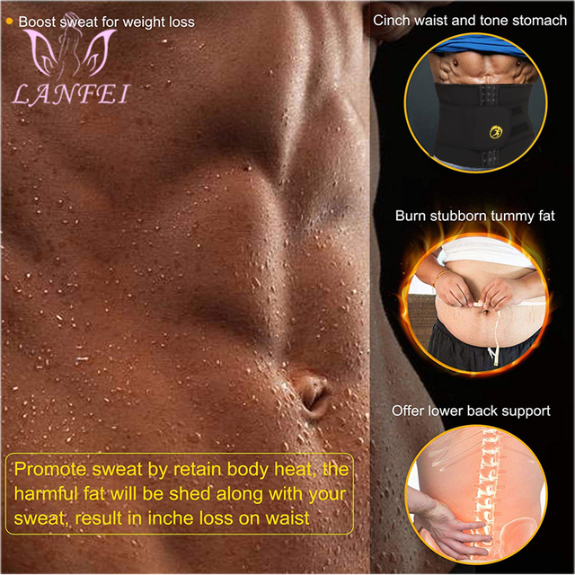 LANFEI Body Shaper Waist Trainer Slimming Shapewear Men Neoprene Sauan Sweat Weight Loss Belt Gym Fitness Modeling Strap Corset 1