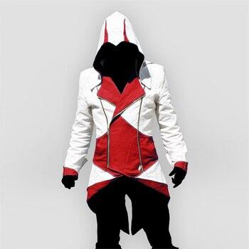 Assassins creed cosplay Erwachsene Männer Frauen Streetwear Kapuzen Jacke Mäntel Outwear Kostüm Edward assassins creed Halloween Kostüm