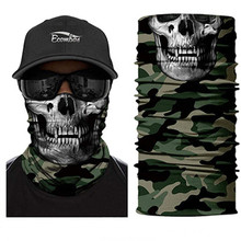 3D Seamless Bandana Animal Neck Gaiter Halloween Mask Headband Skull Bandana Scarf Camouflage Headwears Cycling Jokers Headscarf(China)