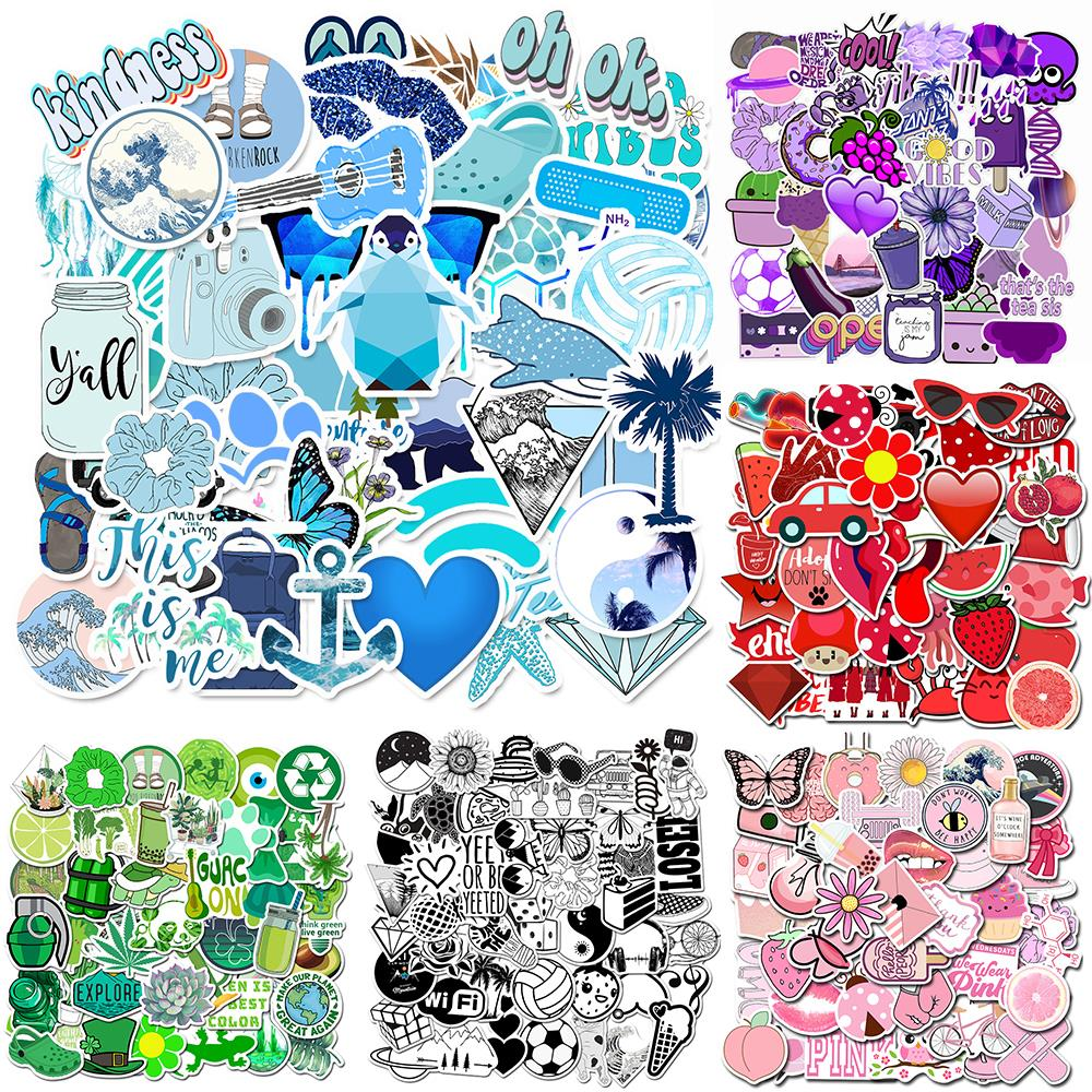 11 Style VSCO Vinyl Stickers Waterproof,Aesthetic,Trendy -VSCO Girl Essential Stuff For Water Bottles Stickers Suitable
