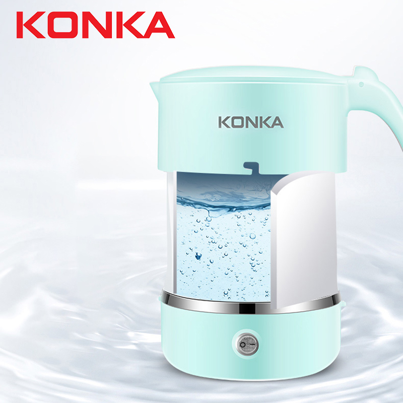 KONKA Konka Mini Thermostatic Folding Portable Travel Electric Kettle Tetera Electrica Water Kettle