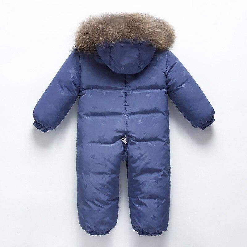 Bébé hiver doudoune garçons conjoints doudoune filles coupe-vent ski chaud costume enfants à capuche épais manteau bébé hiver vêtements - 2
