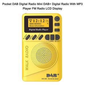 Image 2 - Mini rádio portátil p9 com bolso, rádio fm com tela lcd, bateria recarregável, dab + rádio digital, ue p9 dab, 2020 + alto falante alto falante