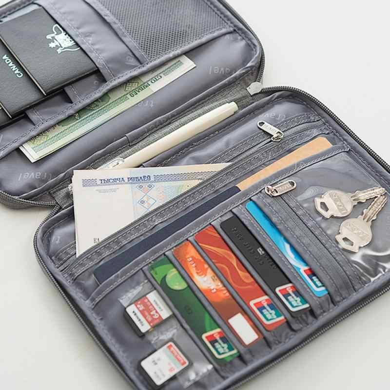 Paspor Baru Dokumen Dompet Perjalanan Paspor Pemegang Multi-Tujuan Kredit Kartu ID Pemegang Penyimpanan Organizer Penyimpanan Alat