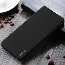 حافظة هاتف فاخرة لهاتف سامسونج جالاكسي S20 الترا S9 Plus S10 S10E ماتي فتحة بطاقة جلد الوجه كوف S8 S7 Edge نوت 9 Coque