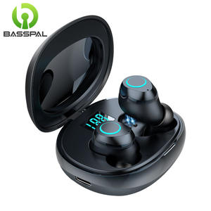 BassPal TWS Bluetooth Earphones 5.0 Touch Control Handsfree Wireless Earbuds I07 With Charging Case Sport Earphones For Phone