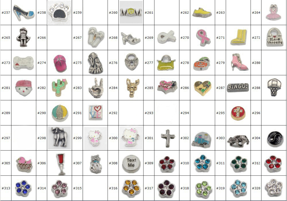 New Arrival Floating Charms Floating Locket Charms Memory Locket Charms (over 500 styles per your request)