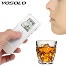 Alcohol-Detector Breathalyser-Device Backlight Car Clock LCD Lcd-Screen YOSOLO