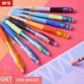 M & g 인체 공학적 항균 지울 수있는 펜 0.5mm 젤 펜 지울 수있는 펜 검은 색 파란색 잉크 지우개 gelpen 학교 용품 andstal