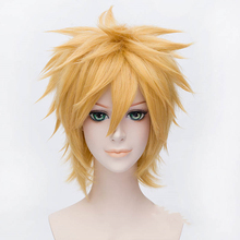 Ktip Up Naruto Uzumaki Cosplay Wigs Golden Short Fluffy Shaggy Layered Heat Resistant Synthetic Hair Anime Costume Wig+Wig Cap haikyuu volleyball oikawa tooru short brown shaggy layered cosplay wig cap girls cosplay wig free shipping