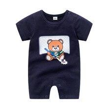 Summer Baby Boys Short Sleeved Romper For Newborn B