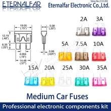 Clipamp sortimento fusível de lâmina padrão automático-suv médio carro fusíveis 2a 3a 5a 7.5a 10a 15a 20a 25a 30a 35a