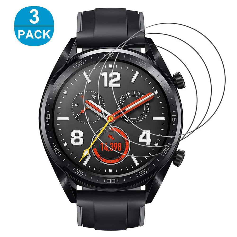 3Pcs Tempered Glass Screen Premium Protector HD Front  Smart Watch Explosion Protective Film Cover For Huawei Watch 2 Pro GT 2