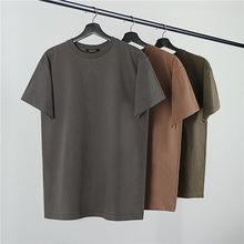 Camisetas masculinas, camisetas de tamanho grande, estação 6 de alta qualidade do kanye west, 19ss