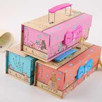 Большой вместимости симпатичный кавайный чехол для карандаша для мальчиков многофункциональная Бумага Креативный школьный пенал etui papelaria ...