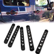 цена на 5 pcs/Set Aluminum Car Side Door Grab Handle Knobs Cover Trim for 2007 - 2017 Jeep Wrangler JK Accessories styling