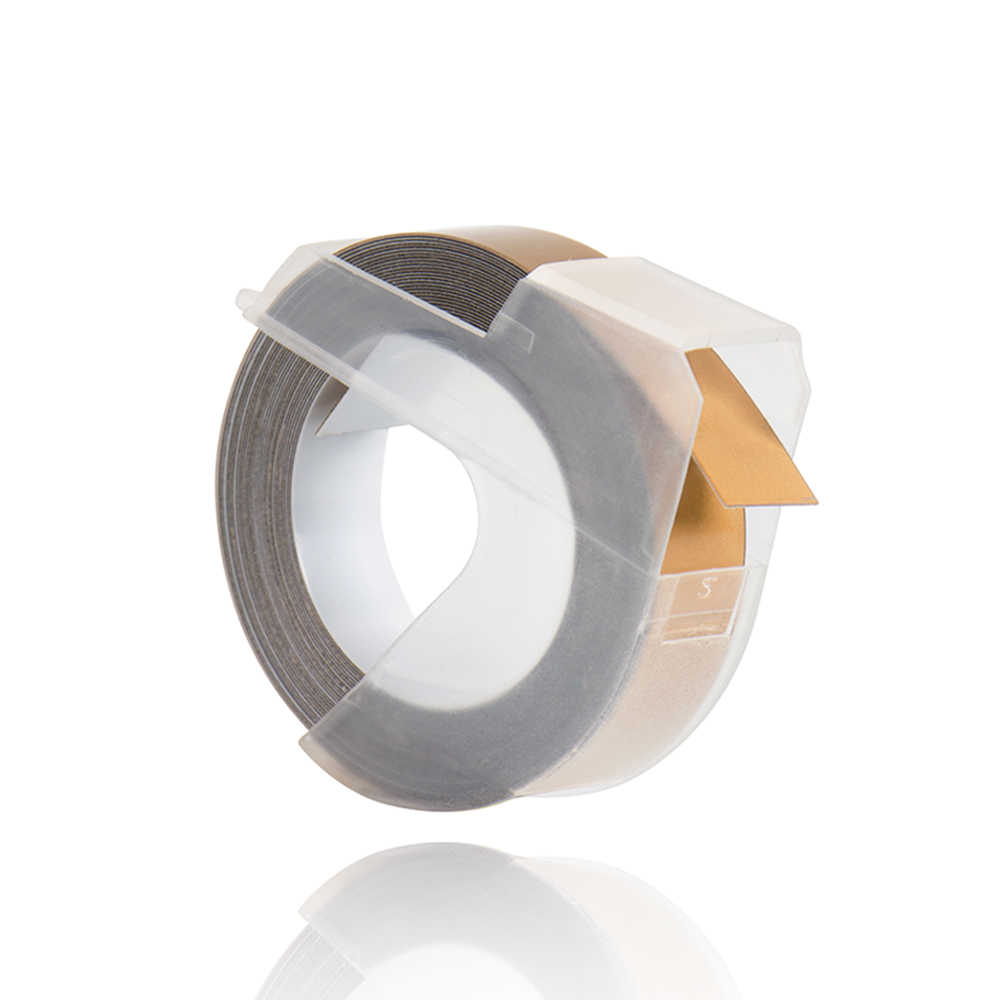 CIDY 1pcs Compagne gold สีสำหรับ DYMO 1610 12965 label maker 3D พลาสติกลายนูน Xpress ป้าย 9 มม. * 3m MOTEX E101