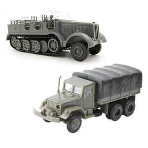 1:72 M35 Military Truck 4D Wheeled Armored Vehicle Rubber-free Assembly Model Military Toy Car Gifts for Kids Boy