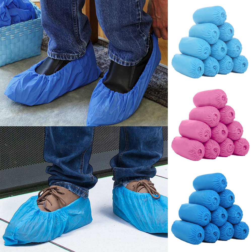300pcs/set Disposable Protective Shoe Cover Dustproof Non-slip Safety Shoes Cover Suit Floor Protector Thick Cleaning Overshoes