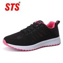 Sts/женская повседневная обувь на плоской подошве; Модные сетчатые