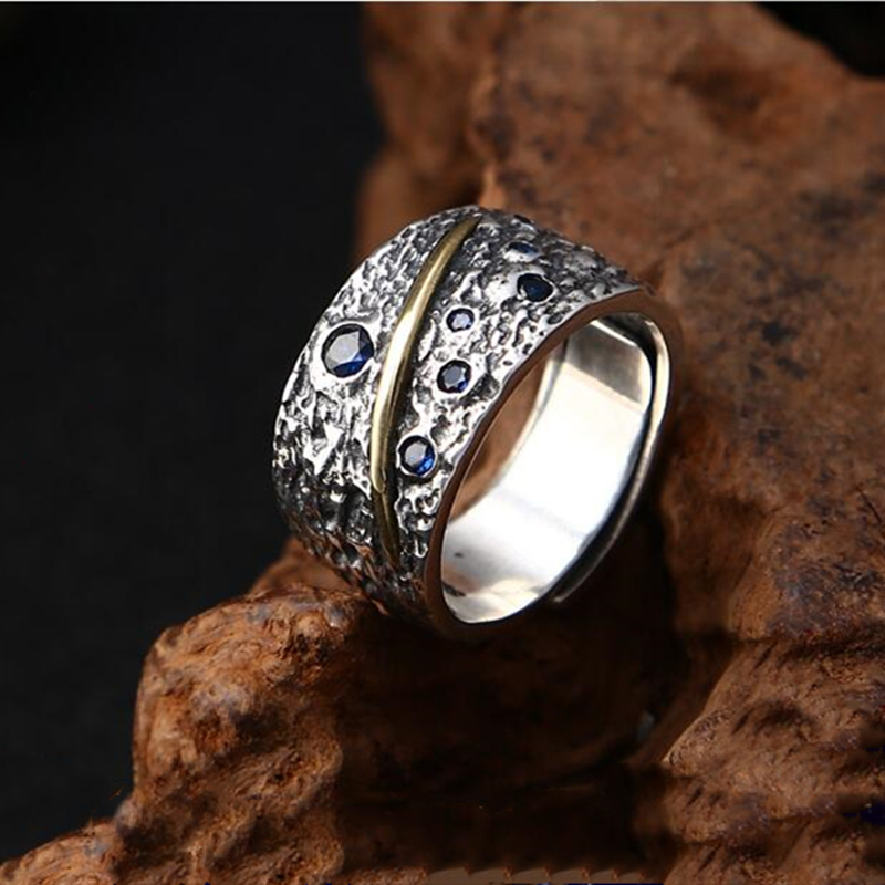 925 Sterling Silver Star Meteor Fashion Individual Ring Create Thai Silver Finger Ring Wide Star Open Ring Women 39 s Jewelry in Rings from Jewelry amp Accessories