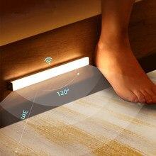 Staircase Backlight Motion Sensor Light Wireless LED Night Light USB Rechargeable Night Lamp For Kitchen Cabinet Wardrobe Lamp