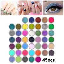 Body Art Colorful Glitter Powder 45 pcs Set