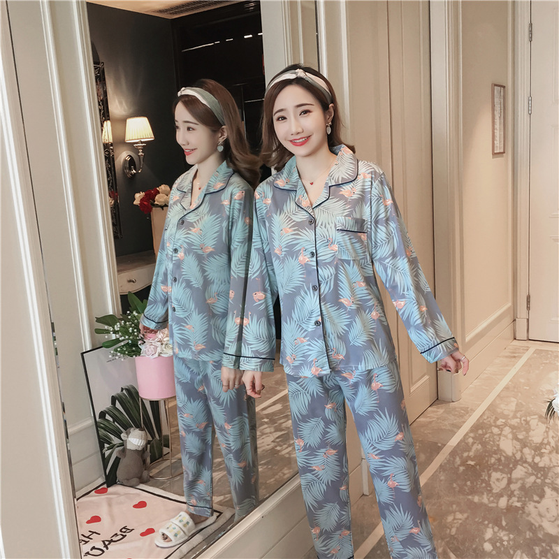 Women's Sleepwear Cotton Gauze Soft Pajama Sets Button Down Long Sleeve Pj Floral Pajama Set Autumn Female Pyjamas Pijama Pj Set