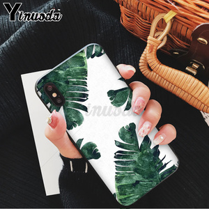 Yinuoda с пальмовым листом горный белый дымчатый чехол черный мягкий чехол для телефона iPhone 8 7 6 6S Plus X XS MAX 5 5S SE XR 11 11pro