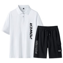 Костюм спортивный мужской из футболки с коротким рукавом и шортов