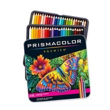 Prismacolor premier oleosa lápis coloridos 24/48/72 peças caixa de lata conjunto núcleo macio retrato estilo da pele
