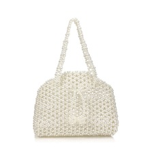 Handmade Pearl Bag Ms. Womens Bags Evening Party Shoulder Elegant Beaded Handbag Wedding Temperament Bridal