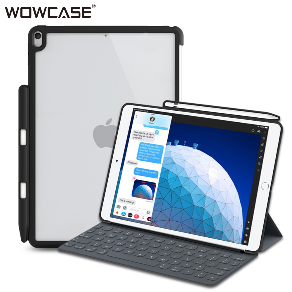 WOWCASE Shockproof Case For New IPad Air 2019 Case Pencil Holder Protect Hard Back Cover Perfect For Apple IPad Air 10.5 Funda