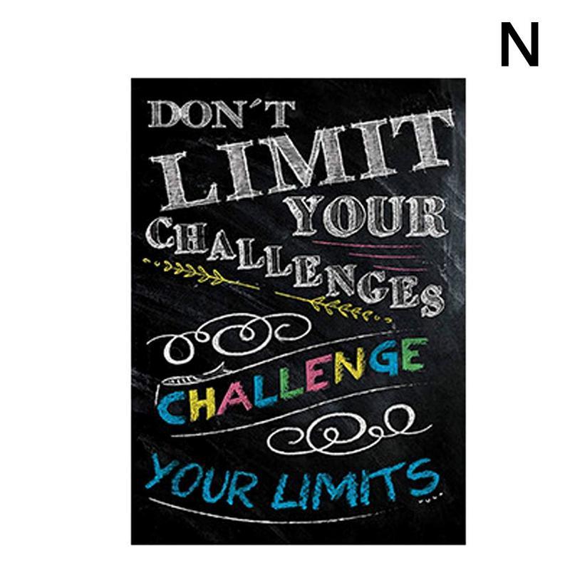 Вдохновляющий постер на английском языке, картина, мотивационный плакат, школьная офисная классная комната, для стен, картины для школьников, школьниц - Цвет: N
