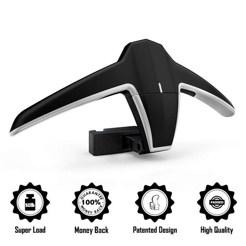 E-FOUR Car Coat Hanger Headrest Back Seat Coat Hanger Multifunctional Car Hanger For Coat Suit Jacket Vehicles MPVs SUVs BMW Car