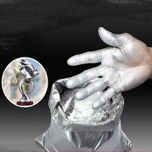 Flash de prata em pó pigmento super brilhante tinta em pó de prata metal em pó pigmento pintura em pó de prata artesanato decoração