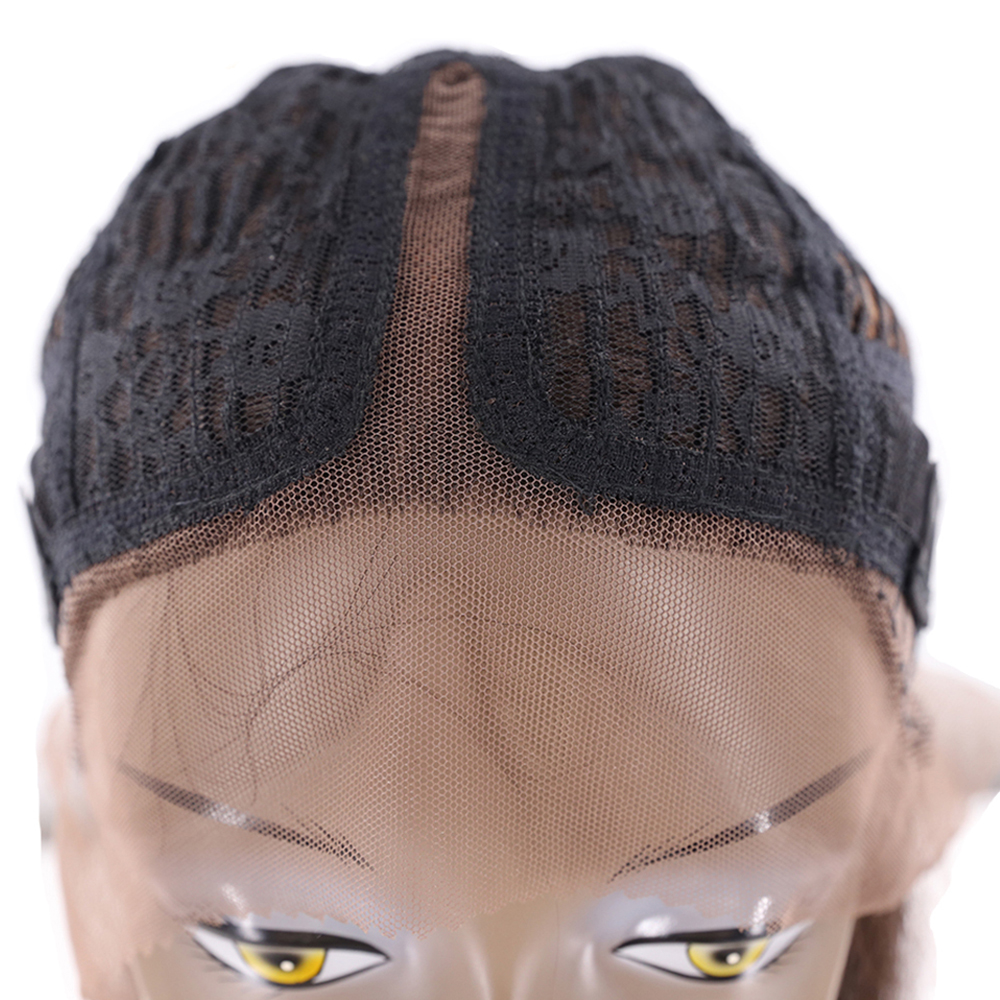 Image 5 - Ombre Green Blue Color Synthetic Lace Front Wigs For Black Women X TRESS Yaki Straight Blunt Short Bob Lace Wig Middle PartSynthetic Lace Wigs   -