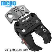 Photography Fixed Clip Mount Arm Clamp Holder w/ Universal 1/4 3/8 Screw Arca Swiss Port for DSLR Camera Monitor Tripod Stand