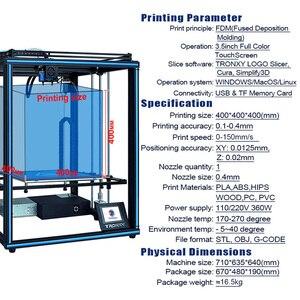Image 3 - Nouvelle Tronxy X5SA/X5SA 400 imprimante 3D, modèle mis à niveau, haute précision, dimensions Kit de bricolage, 400x400x400mm, reprise dimpression, nivellement automatique