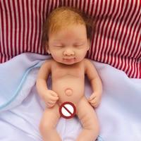 100% Full Body Solid silicone reborn baby doll 10inch mini girl bebe reborn bonecas children gift bath toy dolls