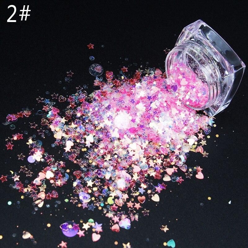 efeito laser 3d lua glitter mix fino