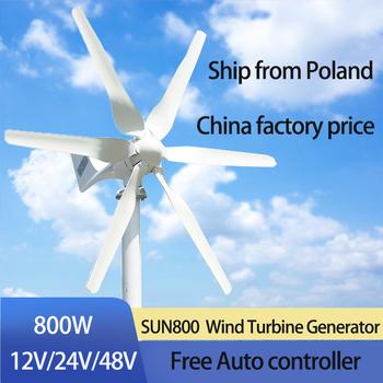 800W 48V turbina wiatrowa z 6 ostrzami i bezpłatnym 48V kontroler MPPT mała turbina wiatrowa do użytku domowego tanie i dobre opinie FLTXNY CN (pochodzenie) SUN-800 iron Generator energii wiatru Z Podstawy Montażowej Jiangsu China (Mainland) 12V 24V 48V