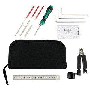 Гитара ремонт и обслуживание набор инструментов включает в себя Станок для намотки гитарных струн резак линейка отвертка паз набор полиров...
