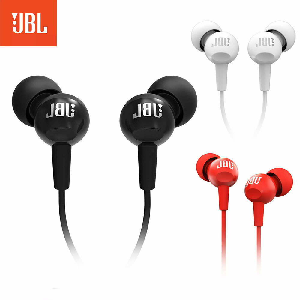 Original JBL C100Si Wired Stereo Earphones Deep Bass Music Sports 3 5mm Headset By HARMAN In-ear Earbuds With MIC IOS Android