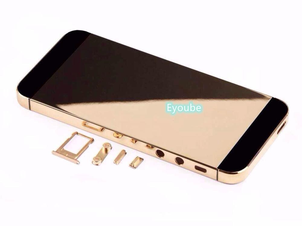 24ct Gold Plated Housing For Phone5s SE Gold/ Rose Gold Plating /Platinum With All Full Side Buttons