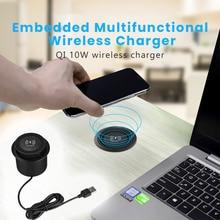 QI Drahtlose Ladegerät Unsichtbare Drahtlose Ladegerät Für iPhone 11 X Xs 8 plus Möbel Tisch Embedded Telefon Ladegerät Für Samsung s10
