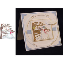 Набор зимних трафаретов для скрапбукинга в форме дерева снеговика