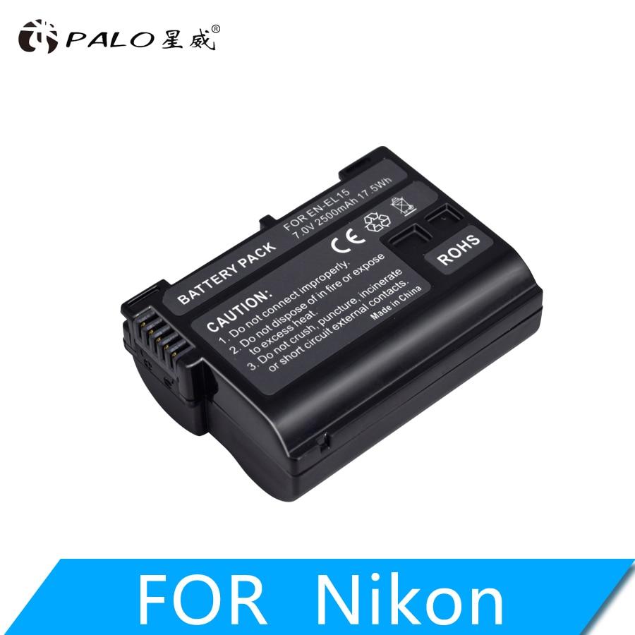 PALO 2500mAh EN-EL15 EN EL15 ENEL15 7V batterie pour Nikon DSLR D600 D610 D800 D800E D810 D7000 D7100 D7200 l15