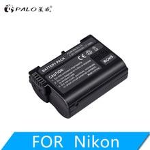 PALO EN EL15 EN-EL15A ENEL15 EN-EL15 Battery + LCD USB Charger for Nikon D500 D600 D610 D750 D7000 D7100 D7200 D800 D800E D810