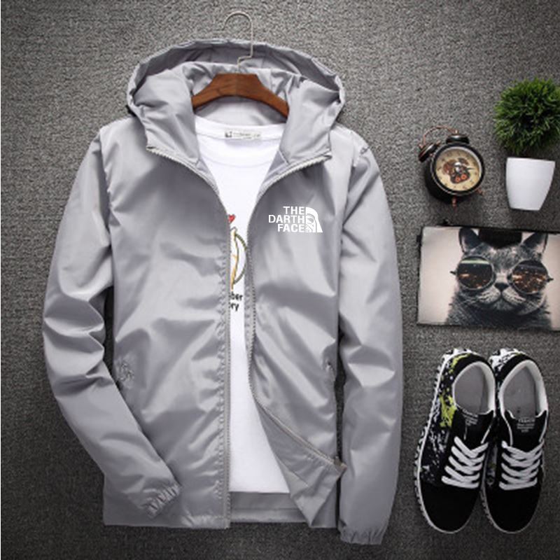 Spring and autumn men's jackets, reflective sunscreen jackets, men and women advertising, custom printed logos